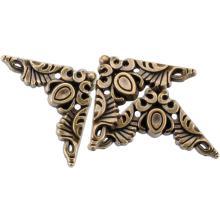 Blumenthal Steampunk Buttons 15/Pkg - Antique Gold Corner