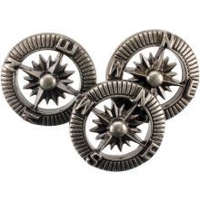 Blumenthal Steampunk Buttons 9/Pkg - Antique Silver Compass