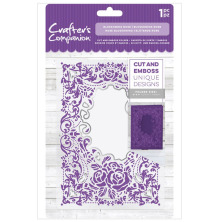 Crafters Companion 5x7 Cut and Emboss Folder - Blossoming Rose