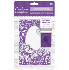 Crafters Companion 5x7 Cut and Emboss Folder - Butterfly Kiss