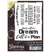 Sheena Douglass A Little Bit Sketchy A6 Stamp - A Different Dream UTGÅENDE
