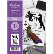 Crafter's Companion A6 Rubber Stamp - Unicorn Magic