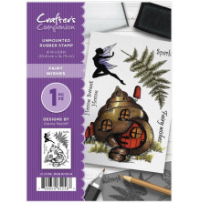 Crafter's Companion A6 Rubber Stamp - Fairy Wishes