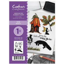 Crafter's Companion A6 Rubber Stamp - New Magic