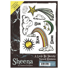 Sheena Douglass A Little Bit Sketchy A6 Stamp Set - Natural Elements