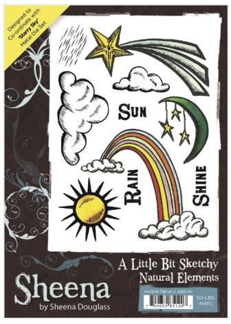 Sheena Douglass A Little Bit Sketchy A6 Stamp Set - Natural Elements