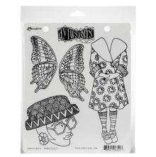 Dylusions Cling Stamp 8.5X7 - Sunday Best