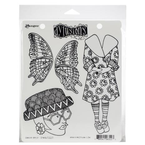 Dylusions Cling Stamps 8.5X7 - Sunday Best