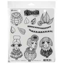Dylusions Cling Stamp 8.5X7 - Three Little Maids