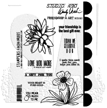 Wendy Vecchi Cling Stamps 6 1/2 x 8 3/4 - Friendship & Art