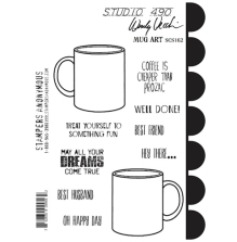 Wendy Vecchi Cling Stamps 6 1/2 x 8 3/4 - Mug Art