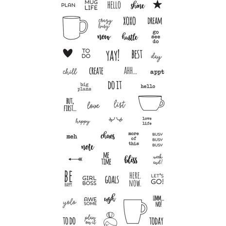 Simple Stories Carpe Diem Photopolymer Clear Stamps - Mug Life