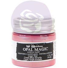 Prima Finnabair Art Alchemy Acrylic Paint 50ml - Opal Magic Coral-Teal