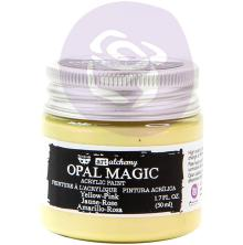 Prima Finnabair Art Alchemy Acrylic Paint 50ml - Opal Magic Yellow-Pink