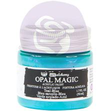 Prima Finnabair Art Alchemy Acrylic Paint 50ml - Opal Magic Teal-Blue