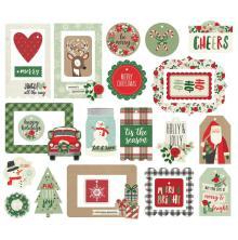 Simple Stories Tags & Frames Die-Cuts 25/Pkg - Merry & Bright