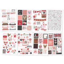 Simple Stories Stickers 4X6 8/Pkg - Kissing Booth