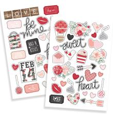 Simple Stories Puffy Stickers 4X6 2/Pkg - Kissing Booth