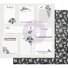 Prima Flirty Fleur Foiled Double-Sided Cardstock 12X12 - Little Notes UTGÅENDE