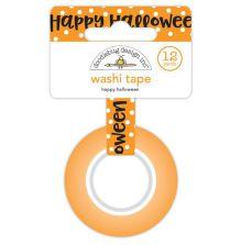 Doodlebug Washi Tape 15mmX12yd - happy halloween