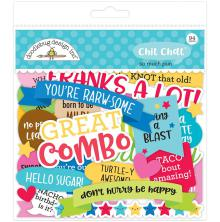 Doodlebug Odds & Ends Die-Cuts 94/Pkg - So Much Pun Chit Chat