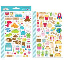 Doodlebug Mini Cardstock Stickers - So Much Pun Icons