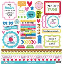 Doodlebug So Much Pun Cardstock Stickers 12X12 - This & That
