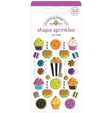Doodlebug Sprinkles Adhesive Glossy Enamel Shapes 24/Pkg - Tiny Treats