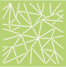 Kaisercraft Designer Template 6X6 - Geo Lines