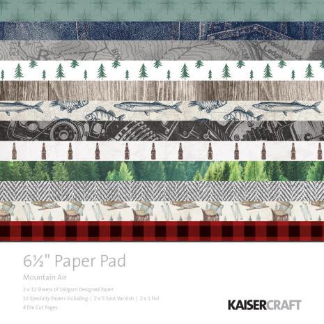 Kaisercraft Paper Pad 6.5X6.5 40/Pkg - Mountain Air
