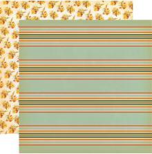 Carta Bella Fall Break Double-Sided Cardstock 12X12 - Scarecrow Stripe UTGÅENDE