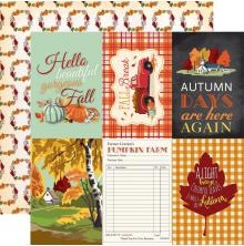Carta Bella Fall Break Double-Sided Cardstock 12X12 - 4X6 Journaling Cards