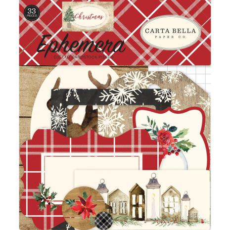 Carta Bella Christmas Ephemera Cardstock Die-Cuts 33/Pkg - Icons