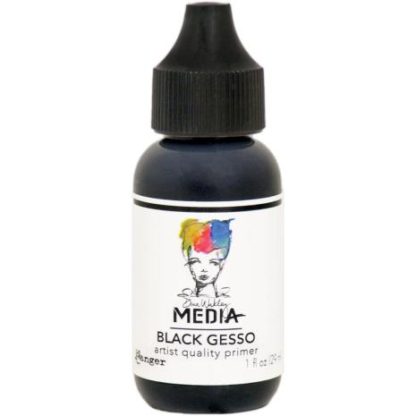 Dina Wakley Media Gesso 1oz Tube - Black
