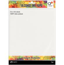 Tim Holtz Alcohol Ink Yupo Paper 86lb 5/Pkg - White
