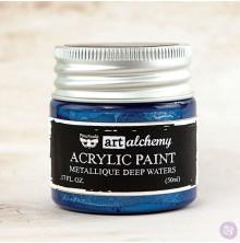 Prima Finnabair Art Alchemy Acrylic Paint 50ml - Metallique Deep Waters