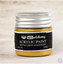 Prima Finnabair Art Alchemy Acrylic Paint 50ml - Metallique Gold Rush