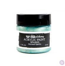 Prima Finnabair Art Alchemy Acrylic Paint 50ml - Sparks Mermaid Sparkle