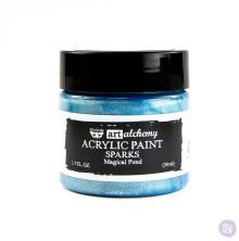 Prima Finnabair Art Alchemy Acrylic Paint 50ml - Sparks Magical Pond