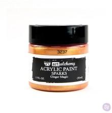 Prima Finnabair Art Alchemy Acrylic Paint 50ml - Sparks Ginger Magic