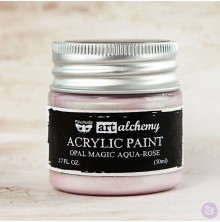 Prima Finnabair Art Alchemy Acrylic Paint 50ml - Opal Magic Aqua-Rose