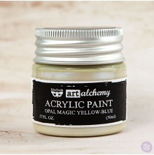 Prima Finnabair Art Alchemy Acrylic Paint 50ml - Opal Magic Yellow-Blue