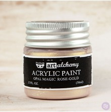 Prima Finnabair Art Alchemy Acrylic Paint 50ml - Opal Magic Rose-Gold
