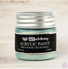 Prima Finnabair Art Alchemy Acrylic Paint 50ml - Opal Magic Blue-Gold