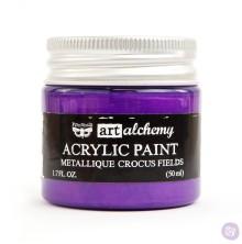 Prima Finnabair Art Alchemy Acrylic Paint 50ml - Metallique Crocus Fields