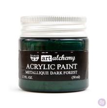 Prima Finnabair Art Alchemy Acrylic Paint 50ml - Metallique Dark Forest
