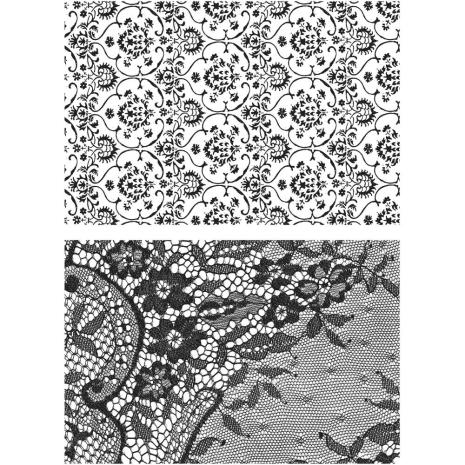 Tim Holtz Cling Stamps 7X8.5 - Ornate & Lace