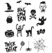 Tim Holtz Cling Stamps 7X8.5 - Spooky Scribbles