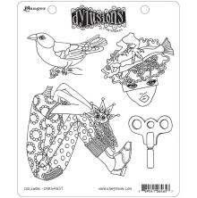 Dylusions Cling Stamp 8.5X7 - Clockwork