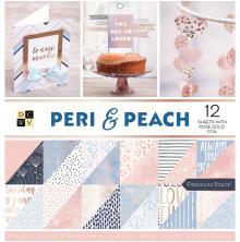Die Cuts With A View Double-Sided Cardstock Stack 12X12 36/Pkg - Peri & Peach